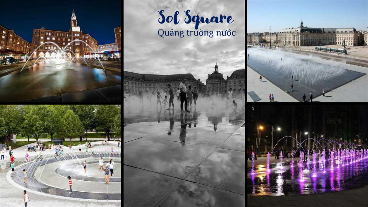 Quang truong nuoc Sol Square - KOSY CITY BEAT THÁI NGUYÊN