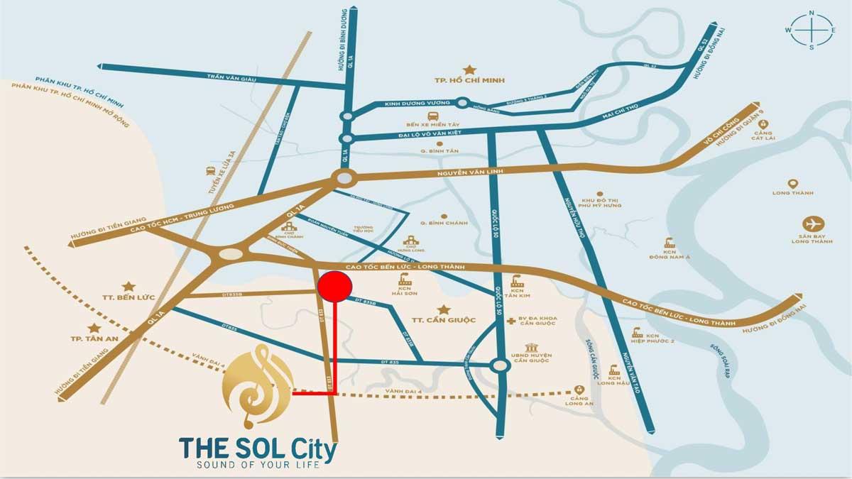 Vi tri Du an The Sol City 2 - The Sol City